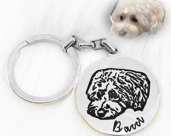 Custom Photo Keychain - Pet Lovers Gift - Pet Portrait Custom - Custom Dog Keychain - Pet Memorial Keychain - Dog Mom Keychain