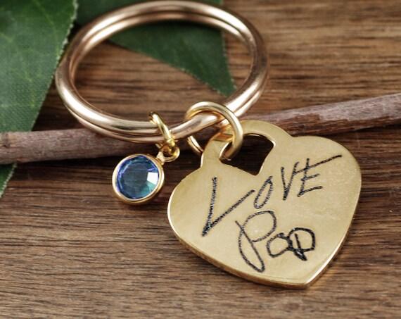 Actual Handwriting Keychain, Sentimental Gift, Mother Gift, Handwriting Keychain, Handwritten Gift