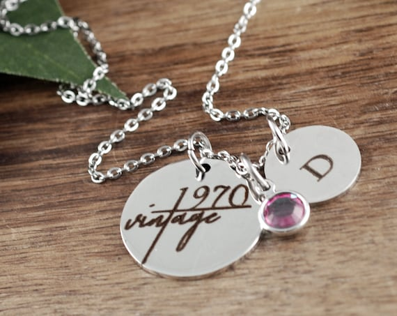 Personalized 50th Birthday Gift, Birthday Gift for Women, 60th Birthday Gift, Vintage, Gift for BFF, Best Friend Gift, Birthday for Sister