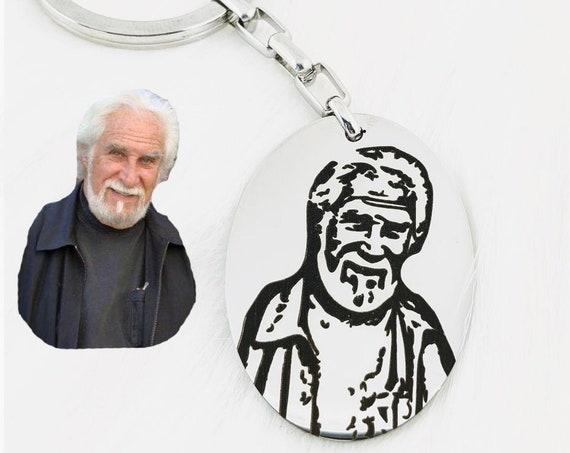 Personalized Custom Memorial Photo Keychain, Memorial Gift, Photo Keychain, Custom Photo Jewelry, Personalized Key Chain, Picture Keychain