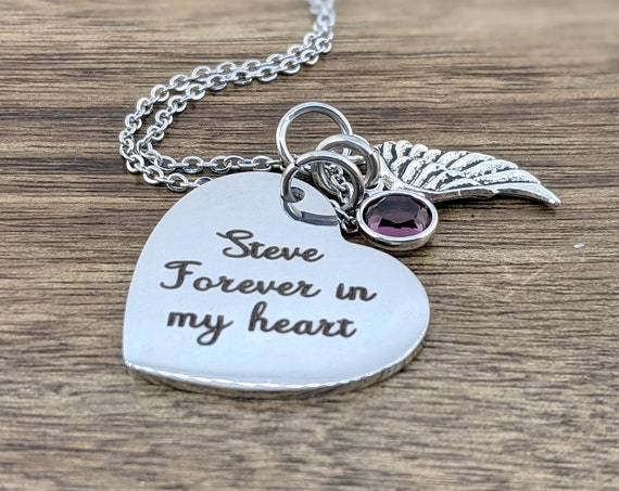 Fingerprint Necklace, In Loving Memory, Loss of Husband, Loss of Father, Condolence Gift, Memorial Gift, Sympathy Gift, Bereavement Gift