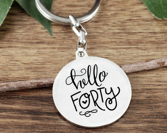 Adult Birthday Hello Forty or Birthday Squad, 40th Birthday Party, Forty Personalized 40th Birthday Gift,Birthday Gift for Women