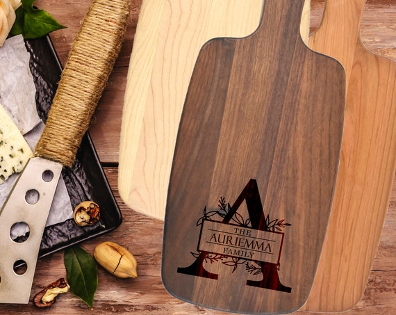 Personalized Engraved Cheese Board - Wedding, Anniversary, Housewarming, Birthday, Corporate, Real Estate Gift. Personalized Cutting Board