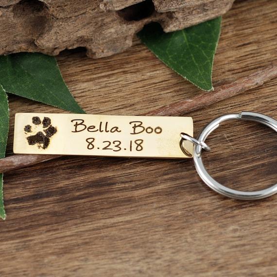 Actual Dog Paw Keychain, Pet Memorial Keychain, Loss of Pet Gift, Actual Footprint, Memorial Jewelry, Children's Hand, Hand Print Keepsake