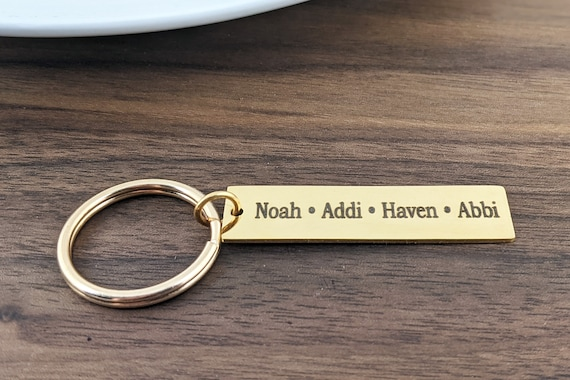Personalized keychain For mom, Keychain for Dad, Kids Names on Keychain, Personalized Keychain, Personalized Gift for Mom Dad Grandma