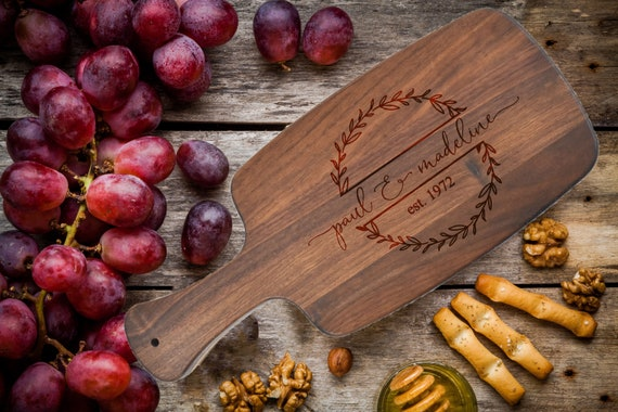 Personalized Cutting Board, Personalized Engraved Cheese Board - Wedding, Anniversary, Housewarming, Birthday, Corporate, Real Estate Gift