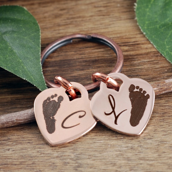 Actual Footprint, Gift for Mom, Gift for Mothers Day, Birthday gift for new mom, Miscarriage Gift, Pregnancy Loss, Loss of a Child Gift