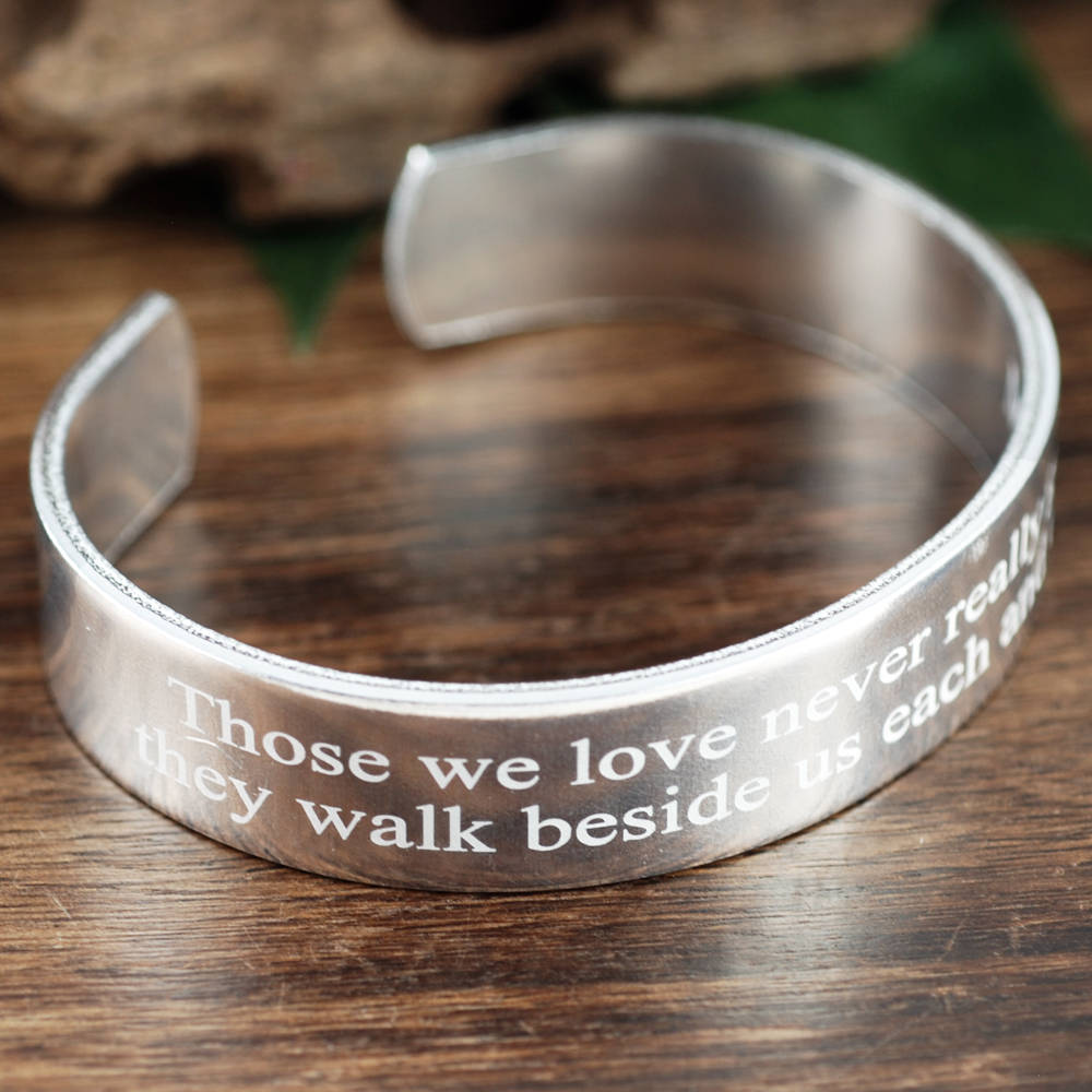 Engraved Memorial Bracelet, Signature Jewelry, Memorial Jewelry, Personalized Engraved Gift, Loss of Loved One, Bereavement Gifts
