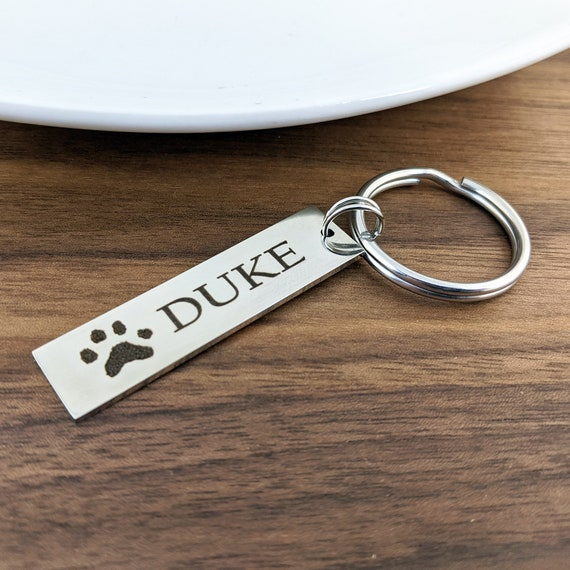 Actual Paw Print, Dog Paw Keychain, Loss of Pet, Pet Paw Keychain, Memorial Keychain, Dog Paw Memorial