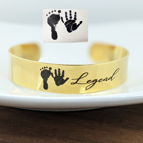 Personalized Baby Foot Bracelet, Actual Foot Print Bracelet, Mom Bracelet, Gift for Mom, Your First Breath Took ours away, Mother's Day Gift