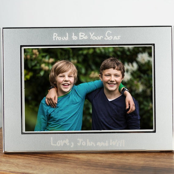 Personalized Photo Frame For Mom Engraved Frame For Dad Etsy