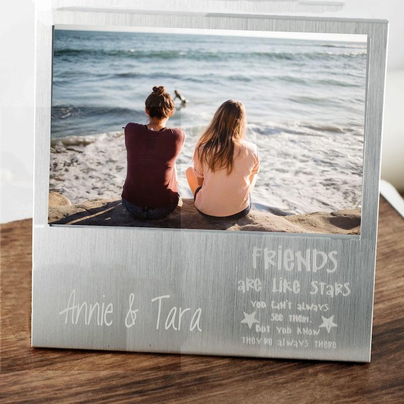 Friends are like Stars Bridesmaid Gifts Custom Frame Picture Frame Gift Friend Picture Frame Personalized Best Friends Picture Frame