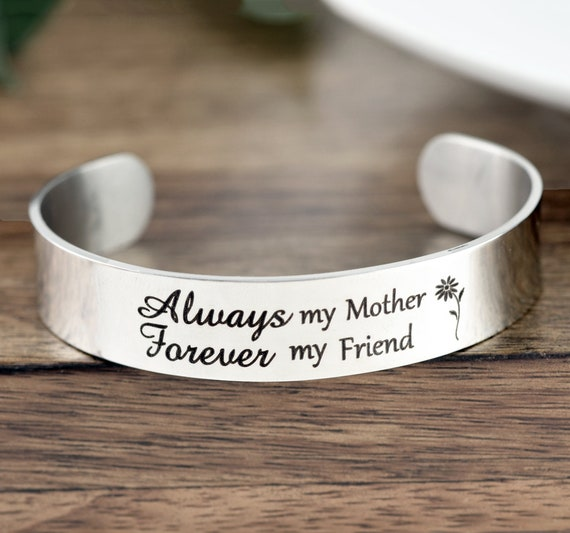 Always My Mother Forever My Friend Bracelet, Mom Gift from Daughter,Gift for Daughter, Mother of the Bride Gift,