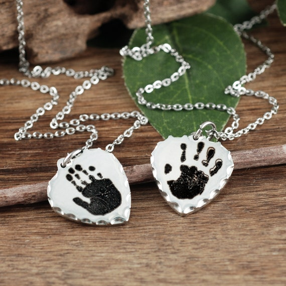 Mom Gift, Actual Footprint Necklace, Personalized Footprint Jewelry, New Baby Jewelry, Pregnancy Infant Loss Jewelry, Memorial Necklace