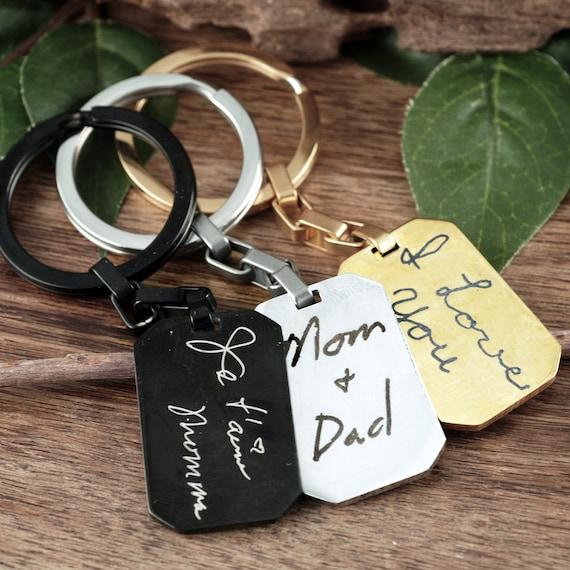 Handwriting Keychain, Personalized Gift, Christmas Gift, Memorial Gift, Custom Handwriting, Actual Handwriting, Handwritten Gift, Signature
