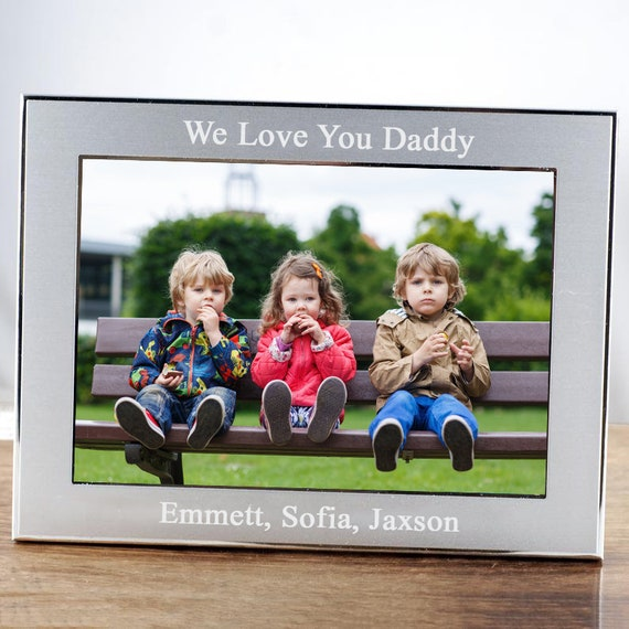 Personalized Father's Day Gift, Picture Frame for Father's Day, Photo Frame, Picture Frame for Dad, Gift for Dad, Family Photo Frame