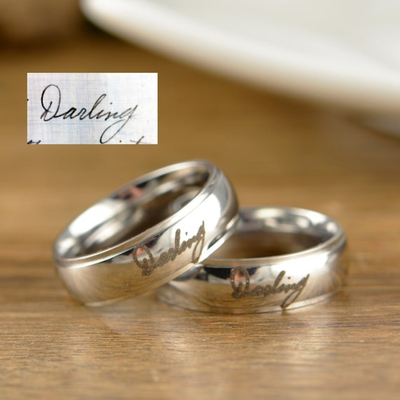 Actual Handwriting Gifts, Engraved Rings, Engraved Rings for Men, Personalized Rings for Him, Handwriting Gift, Ring for Men, Women