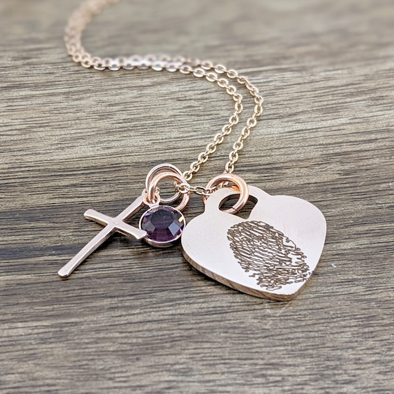 In Loving Memory Gift, Loss of Mother, Loss of Father, Condolence Gift, Memorial Gift, Sympathy Gift, Bereavement Gift, Fingerprint Necklace