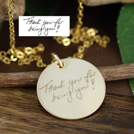 Actual Handwriting Necklace, Handwritten Jewelry, Memorial Necklace, Personalized Signature Necklace, Memorial Necklace, Memorial Jewelry