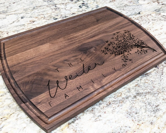 Personalized Family Tree Cutting Board, New Home Gift, Housewarming Gift, Cutting Board, Custom Engraved Wedding, Anniversary Gift