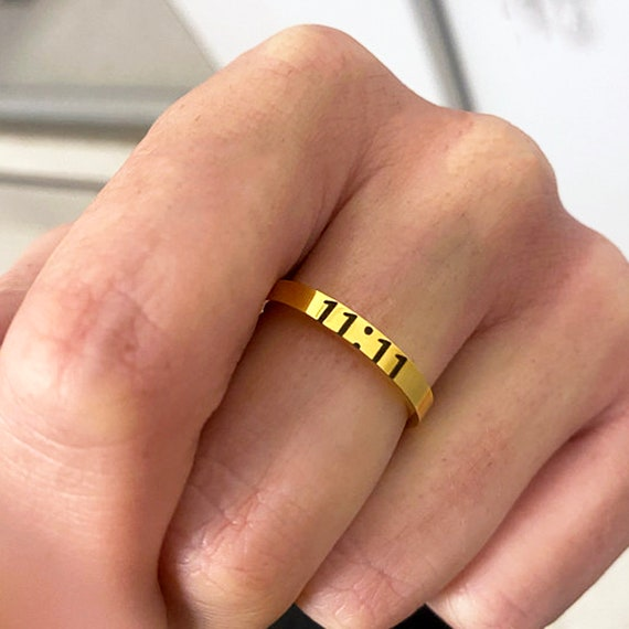 Personalized Stacking Rings, Inspirational Jewelry, Women's Band, Personalized Rings for Her, Stainless Steel Ring for Women, Stacking Rings