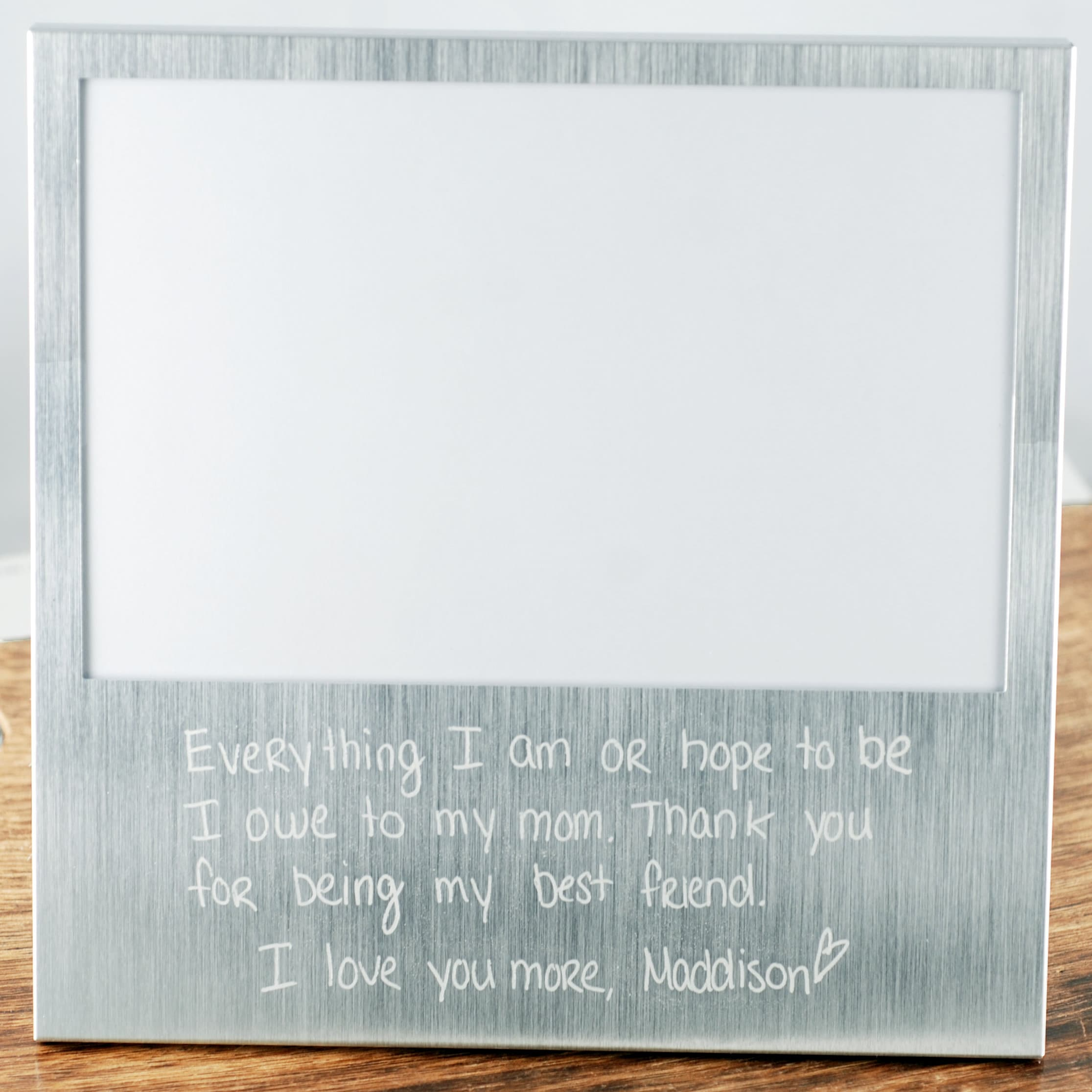 Custom Engraved Frame with Actual Handwriting Mother of the Bride Gift Father Daughter Frame Father of the Bride Gift Custom Handwriting