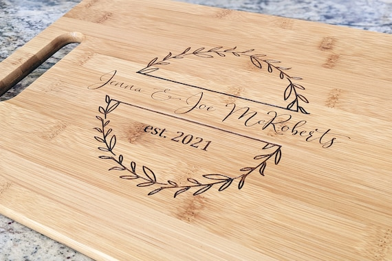 Bamboo cutting boards personalized, Personalized Cutting Board, Engraved Cutting Board, Kitchen Gift, Monogram Cutting Board, Housewarming