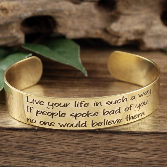 Gold Cuff Bracelet, Engraved Memorial Bracelet, Memorial Jewelry, Personalized Engraved Gift, Loss of Loved One, Bereavement Gifts