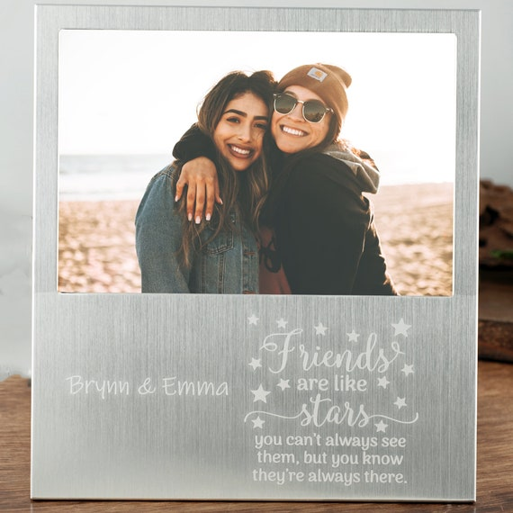Best Friend Birthday Gifts, Personalized Picture Frame, Friends are like Stars, Personalized Best Friends Frame Friendship Frame BFF Gift