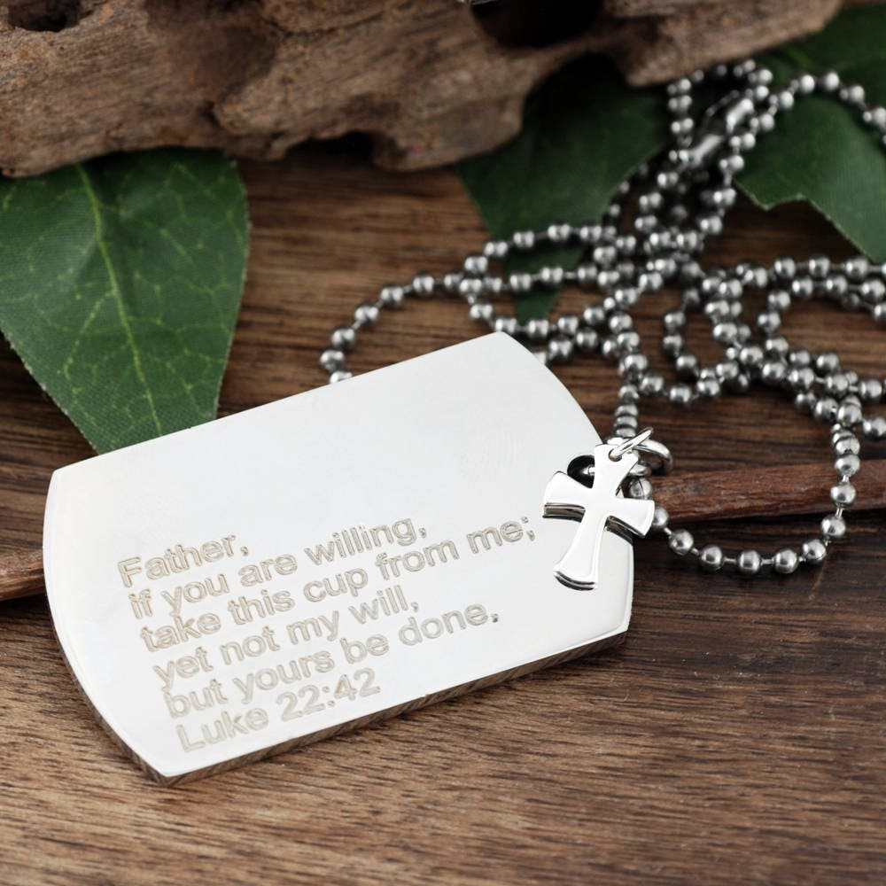 Personalised No.1 Daddy Stainless Steel Dog Tag Necklace Father/'s Day Gift Idea