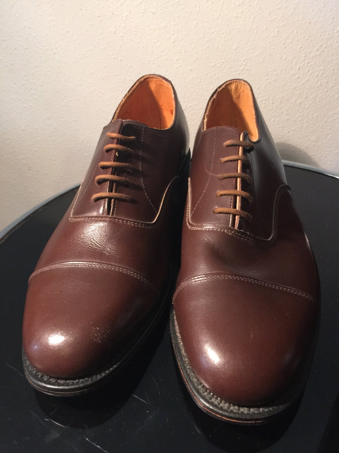 All and leather handmade English Holborn in Black and All choc brown,new old stock. 9bf543