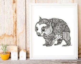 Wombat Print