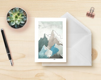 Floral watercolour greeting card etsy blue mountains greeting card m4hsunfo