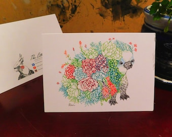 Floral Echidna Greeting Card
