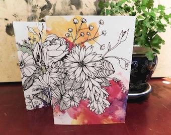Daisy Watercolour Greeting Card