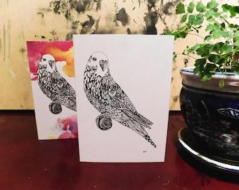 Budgie Greeting Card
