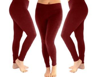9faef9932d5ff Burgundy leggings, red leggings, yoga leggings, women's leggings, maroon  leggings, leggings, cotton leggings, fall leggings, fall outfit