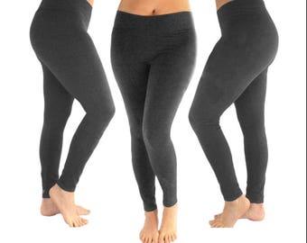 74fcf0e1e5 charcoal leggings, two tone leggings, women's leggings, grey leggings,  cotton leggings, heather gray leggings, gray leggings, dark gray