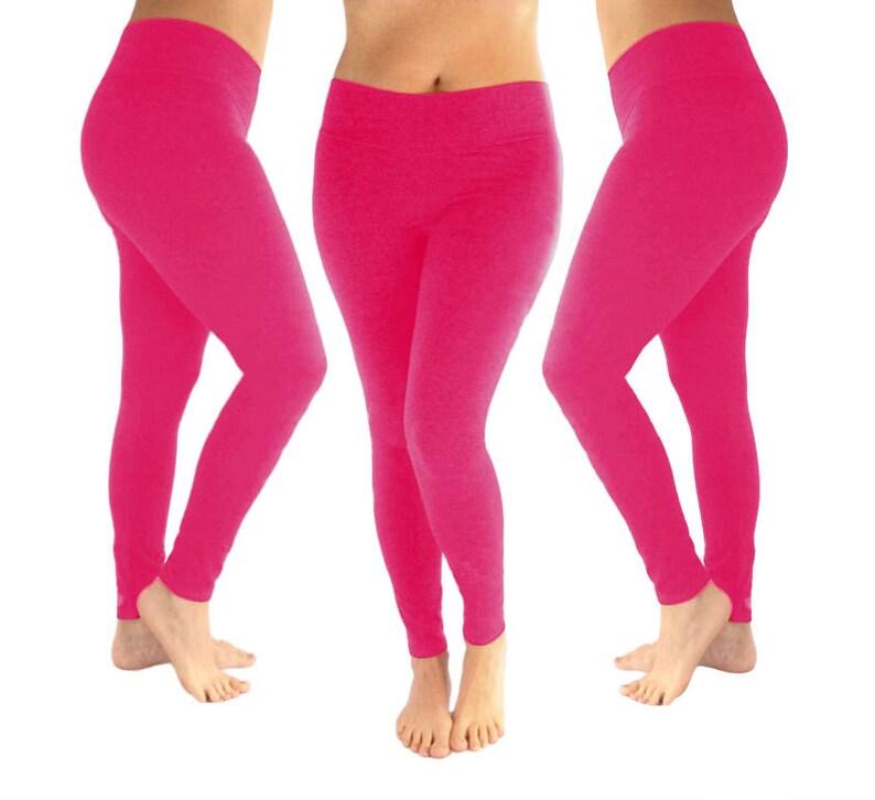 42cd13a27d0fd Pink leggings dark pink leggings hot pink leggings yoga | Etsy