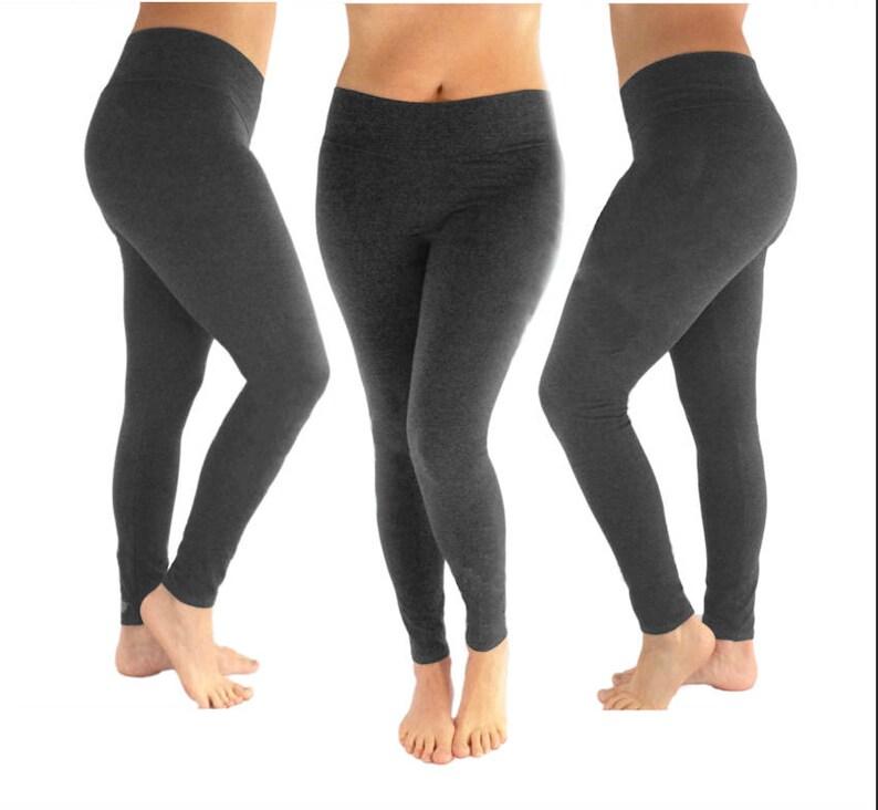 0ef1d5a39dd6a4 Charcoal leggings two tone leggings women's leggings | Etsy