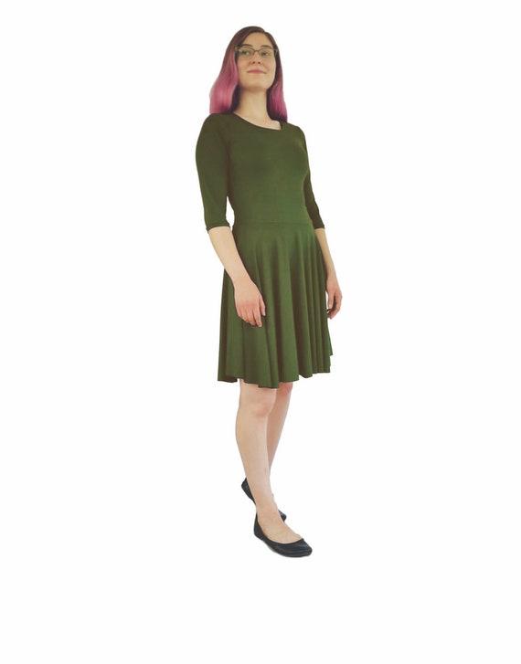 Christmas Green Dress.Olive Dress Green Dress Light Green Dress Holiday Dress Slip On Dress Knit Dress Women S Dress Olive Party Dress Christmas Dress