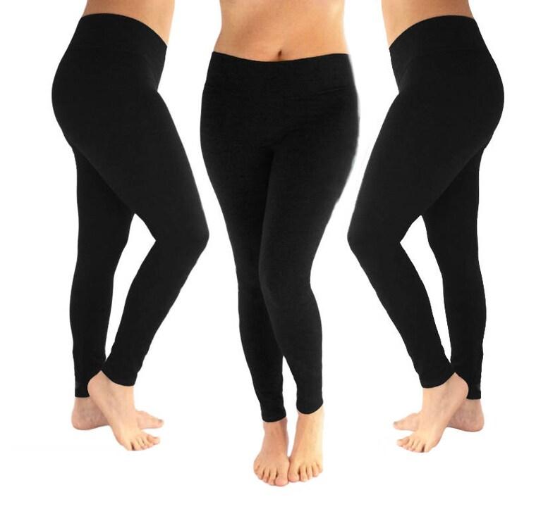 e8c9c193d9bb6 Luxury Leggings Cotton Leggings Black Leggings Women's | Etsy