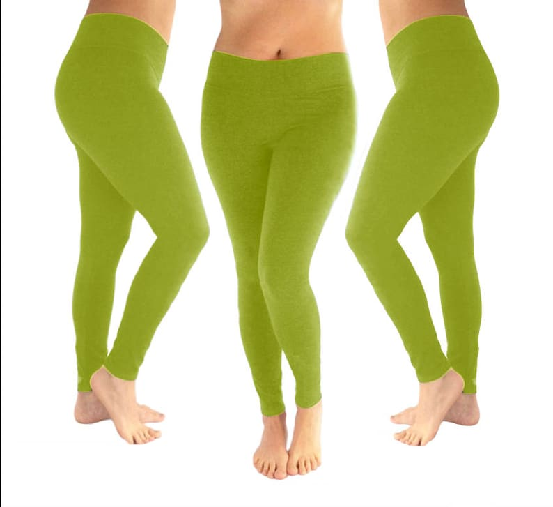 c9506fce1e067f Lime green leggings bright green leggings yoga leggings | Etsy