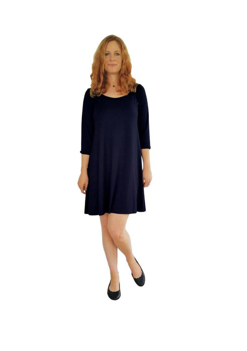 554f0b94 black dress, little black dress, black casual dress, black work dress, slip  on dress, knit dress, LBD, black tunic, black leggings top
