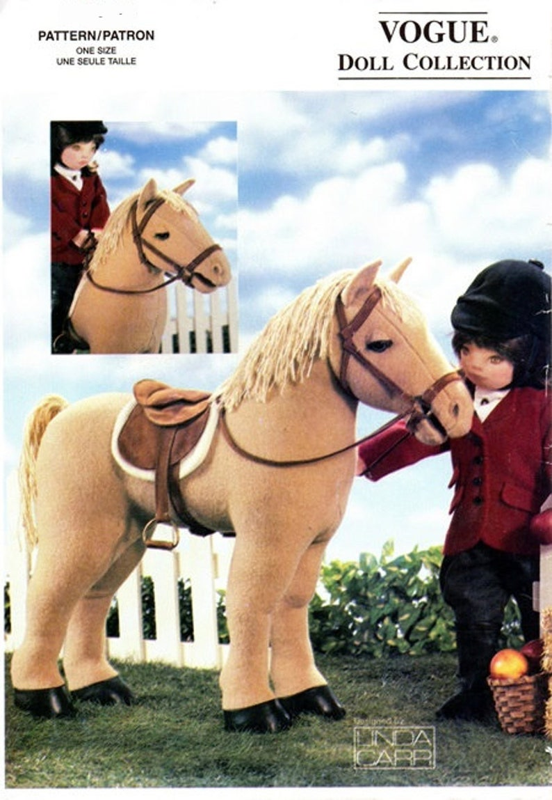 Vogue UNCUT Dolls Collection Horse and Rider Pattern 7603