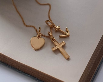 Faith, Hope, Charity Necklace in 18ct Gold Vermeil
