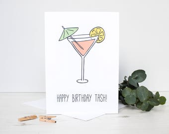 cocktail card etsy