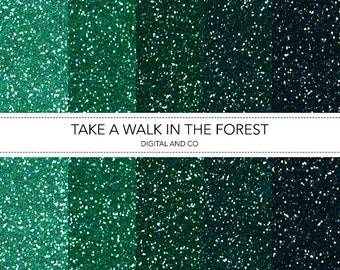 Digital Forest Glitter Pattern, Instant Download, Pattern for Photoshop, JPG included