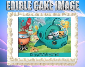 Octonauts Edible Image Topper Birthday Icing Cupcake Favors Decoration Fondant Party Personalized Customize Cake Frosting CA52