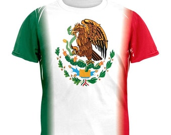 511423828 Cinco De Mayo - Mexican Flag All Over Adult T-Shirt